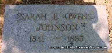 JOHNSON, SARAH E - Montgomery County, Arkansas | SARAH E JOHNSON - Arkansas Gravestone Photos