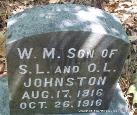 JOHNSTON, W M - Montgomery County, Arkansas   W M JOHNSTON - Arkansas Gravestone Photos