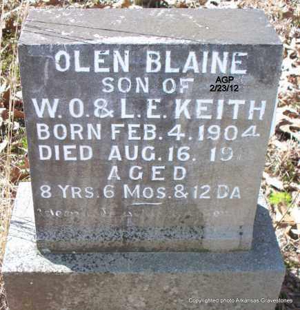 KEITH, OLEN BLAINE - Montgomery County, Arkansas | OLEN BLAINE KEITH - Arkansas Gravestone Photos