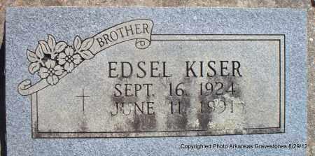 KISER, EDSEL - Montgomery County, Arkansas | EDSEL KISER - Arkansas Gravestone Photos