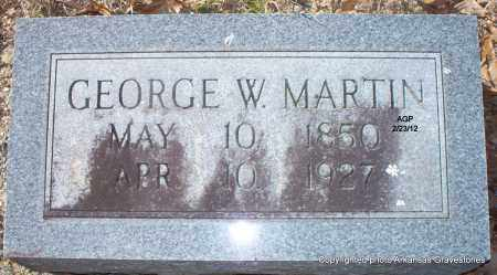 MARTIN, GEORGE W - Montgomery County, Arkansas   GEORGE W MARTIN - Arkansas Gravestone Photos