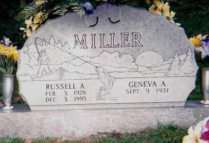 MILLER, RUSSELL A - Montgomery County, Arkansas | RUSSELL A MILLER - Arkansas Gravestone Photos