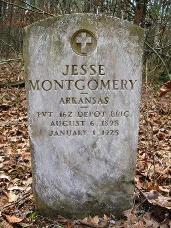 MONTGOMERY (VETERAN), JESSE - Montgomery County, Arkansas | JESSE MONTGOMERY (VETERAN) - Arkansas Gravestone Photos