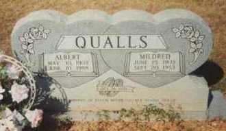 QUALLS, MILDRED - Montgomery County, Arkansas | MILDRED QUALLS - Arkansas Gravestone Photos