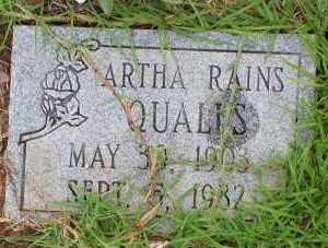QUALLS, ARTHA - Montgomery County, Arkansas | ARTHA QUALLS - Arkansas Gravestone Photos