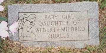 QUALLS, BABY GIRL - Montgomery County, Arkansas | BABY GIRL QUALLS - Arkansas Gravestone Photos