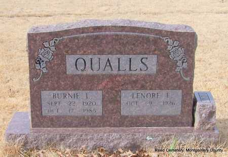 QUALLS, BURNIE L. - Montgomery County, Arkansas | BURNIE L. QUALLS - Arkansas Gravestone Photos