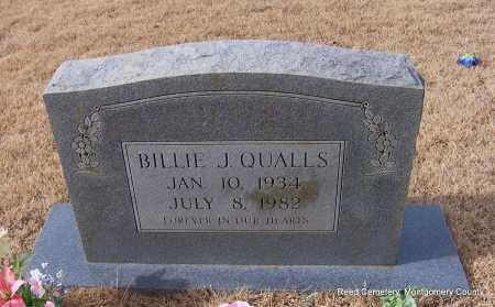 QUALLS, BILLIE J. - Montgomery County, Arkansas   BILLIE J. QUALLS - Arkansas Gravestone Photos