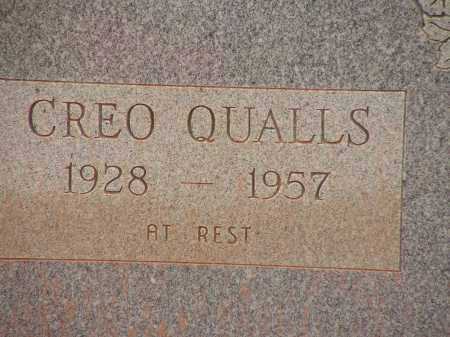 QUALLS, CREO - Montgomery County, Arkansas   CREO QUALLS - Arkansas Gravestone Photos