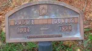 QUALLS, DOSSIE - Montgomery County, Arkansas | DOSSIE QUALLS - Arkansas Gravestone Photos