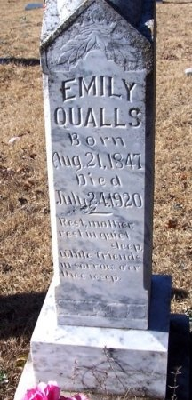 QUALLS, EMILY (CLOSE UP) - Montgomery County, Arkansas | EMILY (CLOSE UP) QUALLS - Arkansas Gravestone Photos