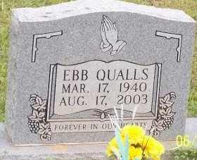 QUALLS, EBB - Montgomery County, Arkansas   EBB QUALLS - Arkansas Gravestone Photos