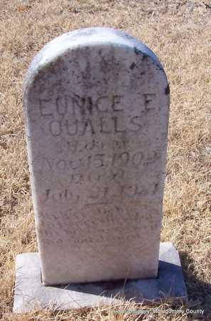 QUALLS, EUNICE - Montgomery County, Arkansas | EUNICE QUALLS - Arkansas Gravestone Photos