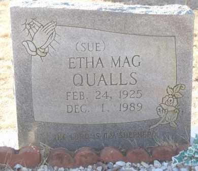 QUALLS, ETHA MAG  (SUE) - Montgomery County, Arkansas | ETHA MAG  (SUE) QUALLS - Arkansas Gravestone Photos