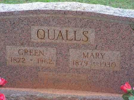 QUALLS, GREEN - Montgomery County, Arkansas | GREEN QUALLS - Arkansas Gravestone Photos