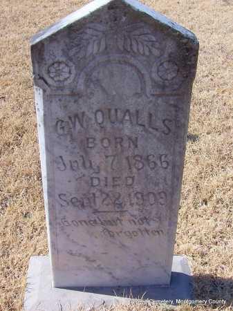 QUALLS, G.W. - Montgomery County, Arkansas   G.W. QUALLS - Arkansas Gravestone Photos