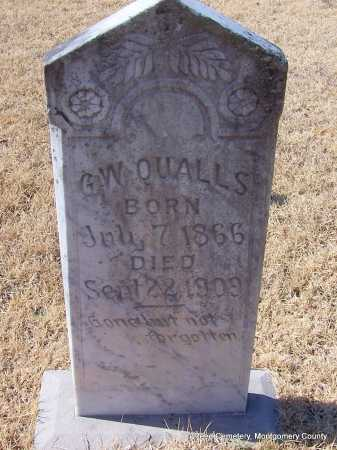 QUALLS, G.W. - Montgomery County, Arkansas | G.W. QUALLS - Arkansas Gravestone Photos