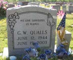 QUALLS, G.W. - Montgomery County, Arkansas | G.W. QUALLS - Arkansas Gravestone Photos