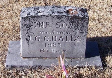 QUALLS, INFANT SON - Montgomery County, Arkansas | INFANT SON QUALLS - Arkansas Gravestone Photos