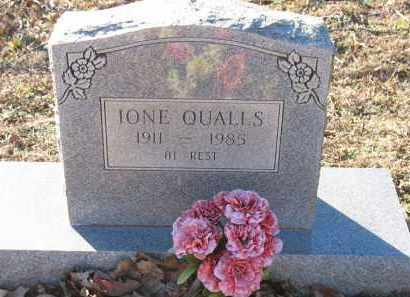 QUALLS, IONE - Montgomery County, Arkansas | IONE QUALLS - Arkansas Gravestone Photos