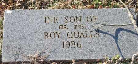 QUALLS, INFANT SON - Montgomery County, Arkansas   INFANT SON QUALLS - Arkansas Gravestone Photos