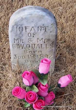 QUALLS, INFANT - Montgomery County, Arkansas   INFANT QUALLS - Arkansas Gravestone Photos