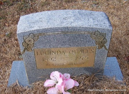 QUALLS, LUCINDA - Montgomery County, Arkansas | LUCINDA QUALLS - Arkansas Gravestone Photos