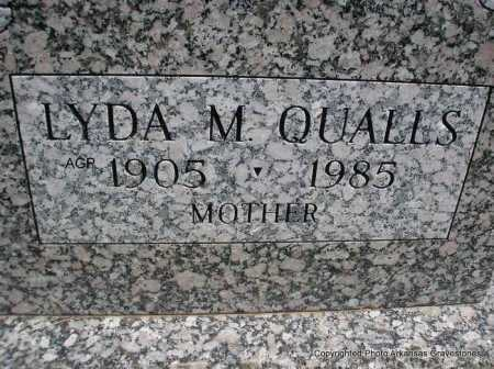 QUALLS, LYDA M. - Montgomery County, Arkansas   LYDA M. QUALLS - Arkansas Gravestone Photos