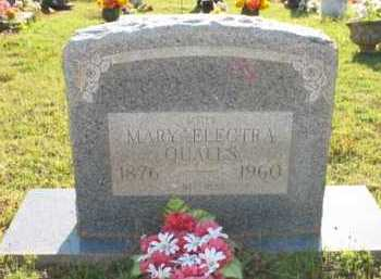QUALLS, MARY ELECTRA - Montgomery County, Arkansas | MARY ELECTRA QUALLS - Arkansas Gravestone Photos