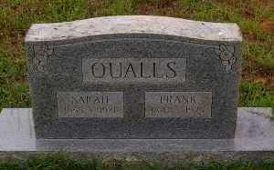 QUALLS, SARAH - Montgomery County, Arkansas   SARAH QUALLS - Arkansas Gravestone Photos