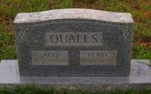 QUALLS, SARAH - Montgomery County, Arkansas | SARAH QUALLS - Arkansas Gravestone Photos