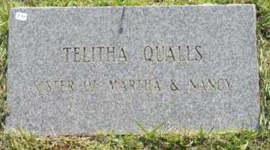 QUALLS, TELITHA - Montgomery County, Arkansas | TELITHA QUALLS - Arkansas Gravestone Photos