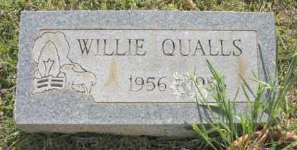 QUALLS, WILLIE - Montgomery County, Arkansas | WILLIE QUALLS - Arkansas Gravestone Photos