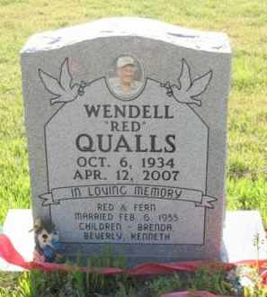 """QUALLS, WENDELL  """"RED"""" - Montgomery County, Arkansas 