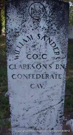 SANDERS (VETERAN CSA), WILLIAM - Montgomery County, Arkansas | WILLIAM SANDERS (VETERAN CSA) - Arkansas Gravestone Photos