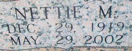 SCHACHT, NETTIE M (CLOSEUP) - Montgomery County, Arkansas | NETTIE M (CLOSEUP) SCHACHT - Arkansas Gravestone Photos