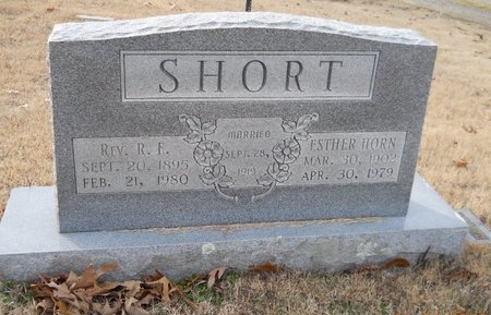 HORN SHORT, ESTHER - Montgomery County, Arkansas | ESTHER HORN SHORT - Arkansas Gravestone Photos