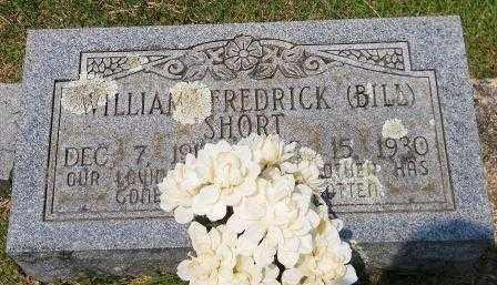 SHORT, WILLIAM FREDRICK (BILL) - Montgomery County, Arkansas | WILLIAM FREDRICK (BILL) SHORT - Arkansas Gravestone Photos
