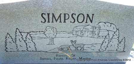 SIMPSON, VELMA LOU (BACK OF STONE) - Montgomery County, Arkansas | VELMA LOU (BACK OF STONE) SIMPSON - Arkansas Gravestone Photos