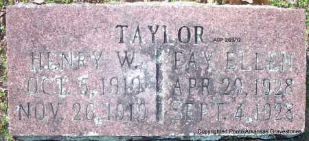 TAYLOR, FAY ELLEN - Montgomery County, Arkansas | FAY ELLEN TAYLOR - Arkansas Gravestone Photos