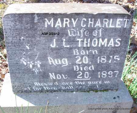 THOMAS, MARY CHARLET - Montgomery County, Arkansas | MARY CHARLET THOMAS - Arkansas Gravestone Photos