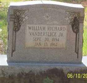 VANDERSLIC, JR, WILLIAM RICHARD - Montgomery County, Arkansas   WILLIAM RICHARD VANDERSLIC, JR - Arkansas Gravestone Photos
