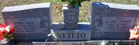 VETETO, ALFRED ALLEN - Montgomery County, Arkansas | ALFRED ALLEN VETETO - Arkansas Gravestone Photos