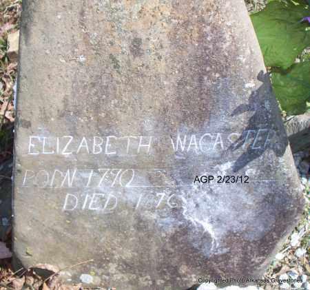 WACASTER`, ELIZABETH - Montgomery County, Arkansas | ELIZABETH WACASTER` - Arkansas Gravestone Photos