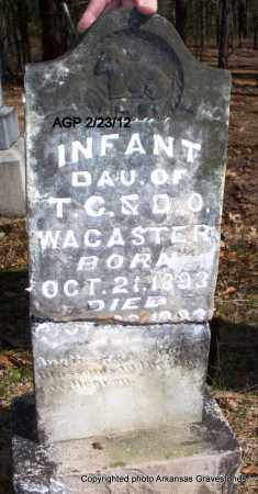 WACASTER, INFANT DAUGHTER - Montgomery County, Arkansas | INFANT DAUGHTER WACASTER - Arkansas Gravestone Photos