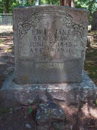 BRADSHAW, EMILY JANE - Nevada County, Arkansas | EMILY JANE BRADSHAW - Arkansas Gravestone Photos