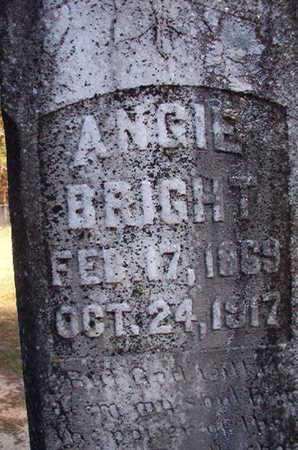 BRIGHT, ANGIE - Nevada County, Arkansas | ANGIE BRIGHT - Arkansas Gravestone Photos
