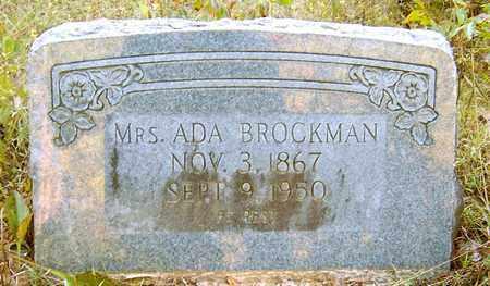 HAIRSTON BROCKMAN, ADA, MRS - Nevada County, Arkansas | ADA, MRS HAIRSTON BROCKMAN - Arkansas Gravestone Photos