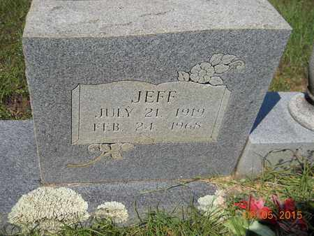 CLARK, JEFF (CLOSEUP) - Nevada County, Arkansas   JEFF (CLOSEUP) CLARK - Arkansas Gravestone Photos