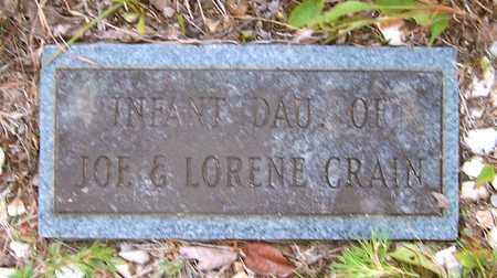 CRAIN, INFANT DAUGHTER - Nevada County, Arkansas | INFANT DAUGHTER CRAIN - Arkansas Gravestone Photos